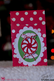 Treat bag with peppermint candy
