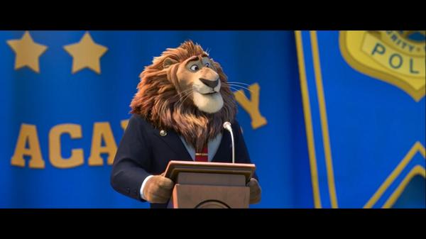 Le lion-maire dans Zootopie