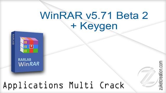 WinRAR v5.71 Beta 2 + Keygen  |  5,90 MB