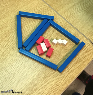 Cuisinaire rods are great for inspiring building activities