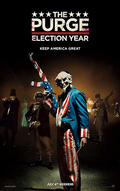 Poster The Purge: Election Year 2016 Full Movie Download Dual Audio Hindi