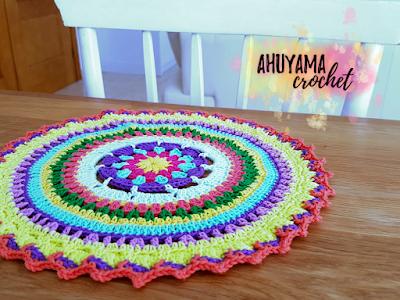 imagen mantel mandala ahuyama crochet