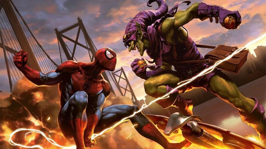 Spider-Man, Vs, Green Goblin, Fight, Marvel, 4K, #6.1329