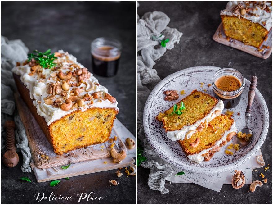 ciasto marchewkowe z orzechami na wielkanoc
