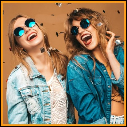 beautiful smiling girls in trendy summer clothes stylish dp