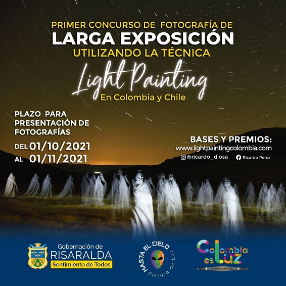 Risaralda apoya el primer concurso de Ligth Painting en Colombia y Chile liderado por un pereirano