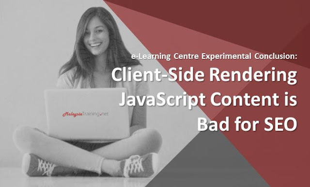 e-Learning Centre Experiment: JavaScript is Bad for SEO