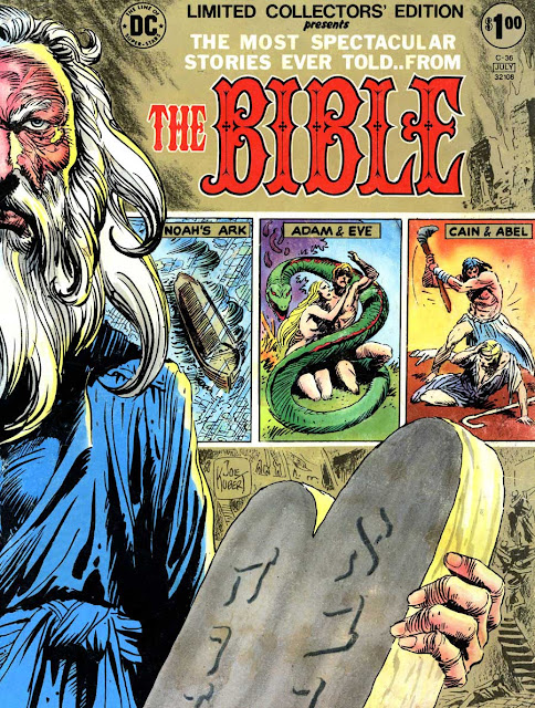 Limited Collectors Edition #C-36 / The Bible dc comic book cover art by Joe Kubert