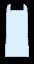 個人防護具のイラスト(女性・エプロン)