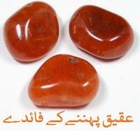aqeeq ring stone ke faide