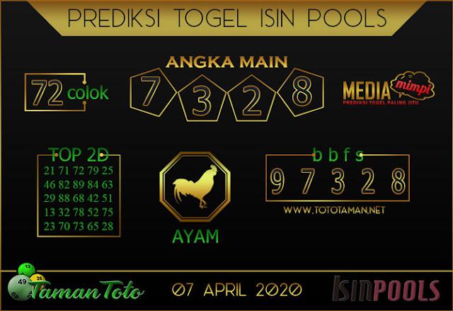 Prediksi Togel ISIN TAMAN TOTO 07 APRIL 2020