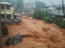 recherche de survivants des coulées de boue