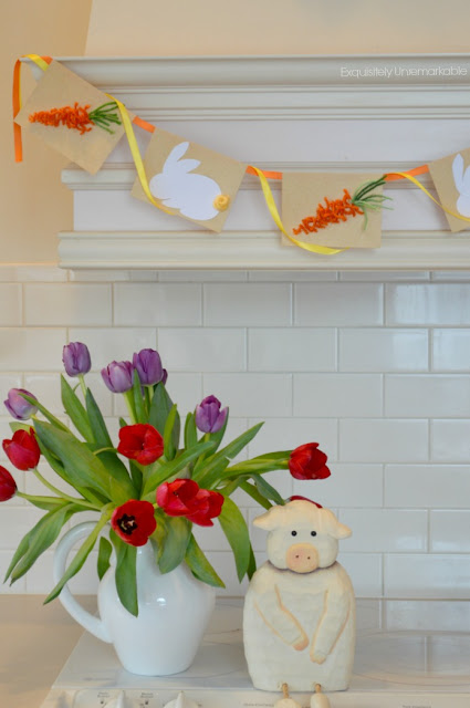 Easy Carrot and Easter Bunny Garland Banner