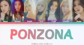 Purple Kiss - Ponzona Lyrics (English Translation)