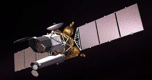 Artist's concept of the Spektr-RG telescope. Credit: Roscosmos