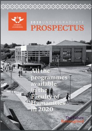 UJ Prospectus 2020 Humanities