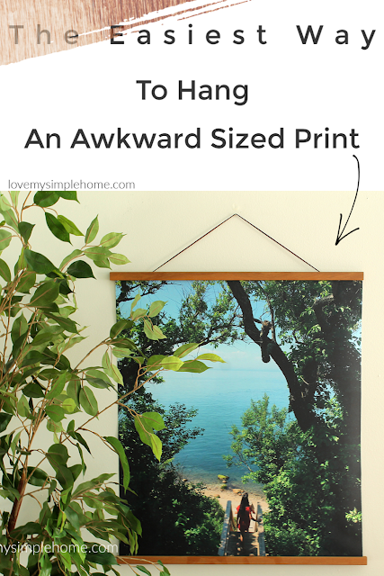 the-easiest-way-to-hang-an-awkward-sized-print-lovemysimplehome.com