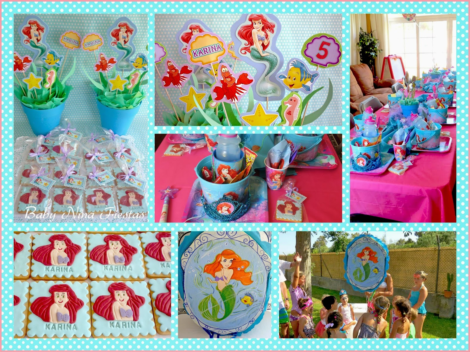 fiesta little mermaid la sirenita