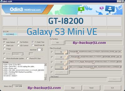 سوفت وير هاتف Galaxy S3 Mini VE موديل GT-I8200 روم الاصلاح 4 ملفات تحميل مباشر