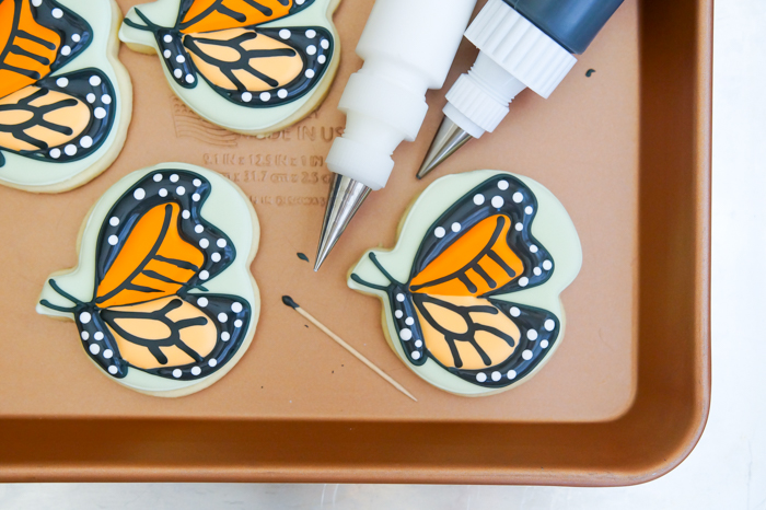 monarch butterfly cookie decorating tutorial
