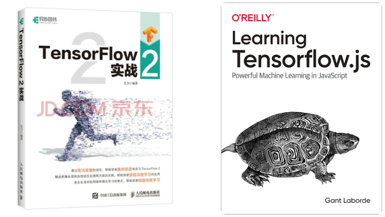 Image of TensorFlow 2 and Learning TensorFlow JS books