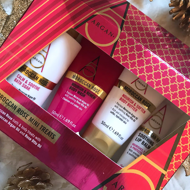 Christmas Gift Idea's - Argan+ Moroccan Rose Mini Treats Gift Set
