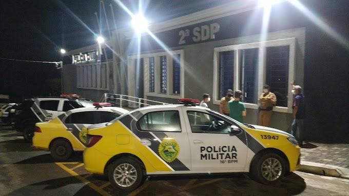 Acabou a farra; PM termina com festinha clandestina em Laranjeiras do Sul