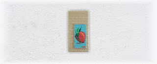 Strawberry Two Bead and Fiber Fine Art Tapestry by Jen Ten Art