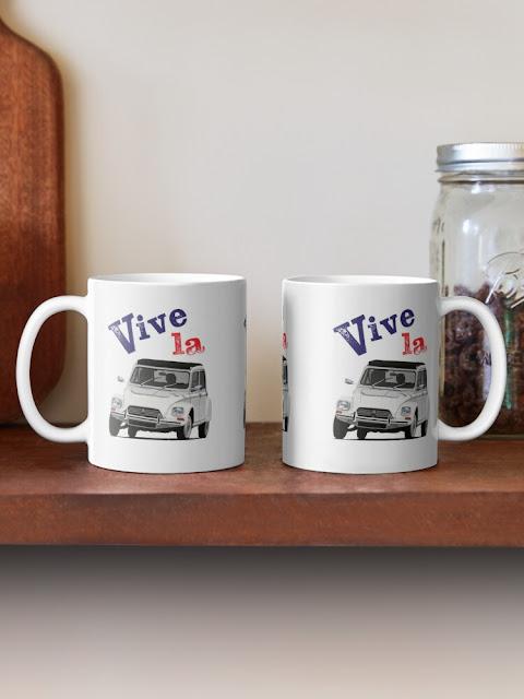 Vive la Citroën Dyane mugs