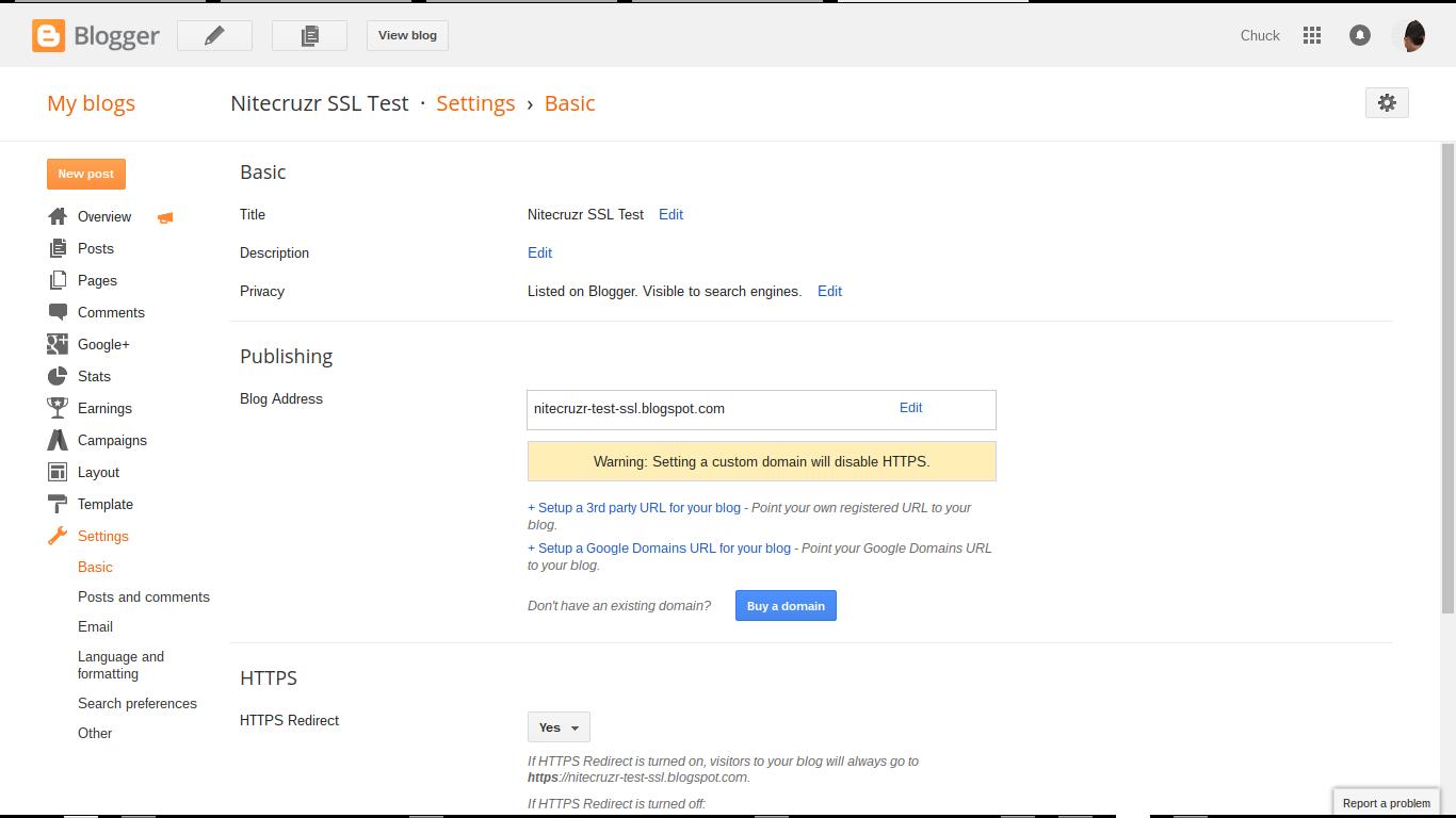 verify blogspot and domain urls