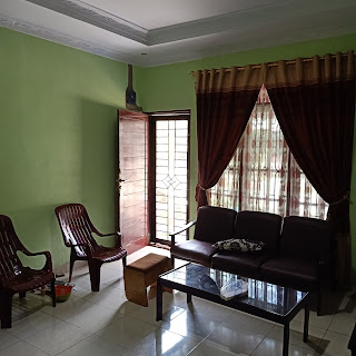 Ruang Tamu Jual Rumah Murah Bentuk Kantong Pasti Bawa Rejeki Di Jl Karya Wisata Ujung Medan Johor Sumatera Utara