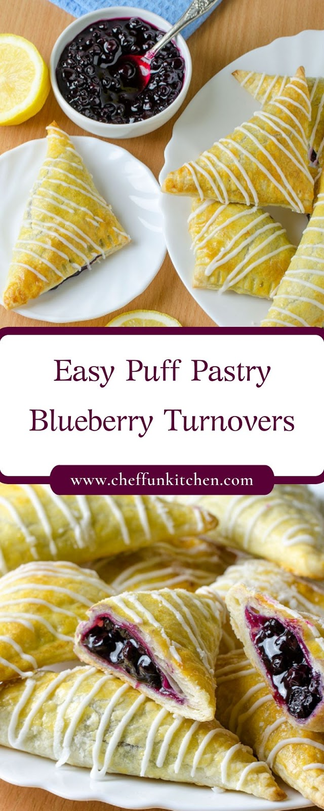 Easy Puff Pastry Blueberry Turnovers