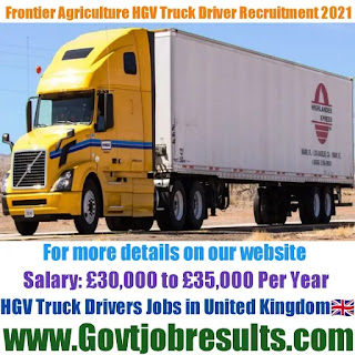 Frontier Agriculture HGV Truck Driver Recruitment 2021-22
