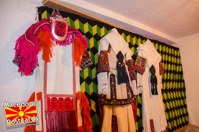 Folk costumes  - Ethnological museum - village Podmocani, Municipality of Resen