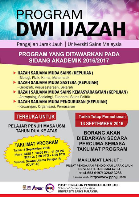 Program DWI IJAZAH USM