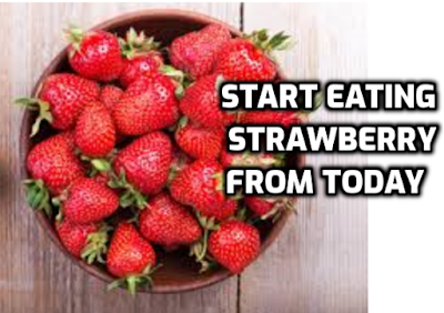 Benefits of eating strawberries in summer.