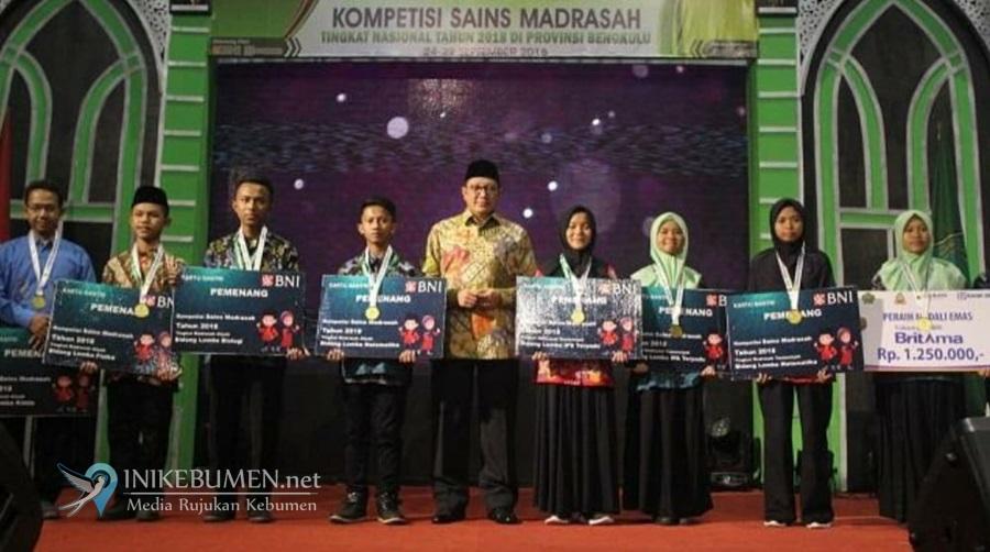 Jateng Runner Up, MTsN 1 Kebumen Sumbang Satu Perak