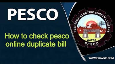 Pesco online bill - How to check pesco online duplicate bill