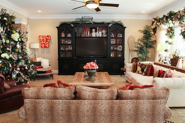 leopard print living room decorating ideas