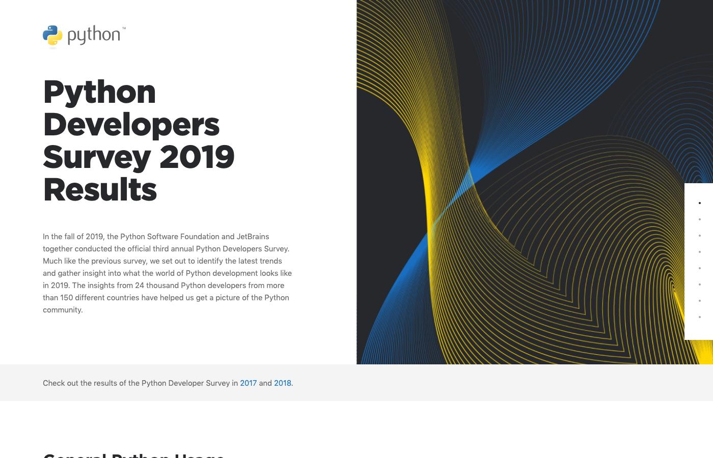 Python Software Foundation と JetBrains の Python 利用調査 2019