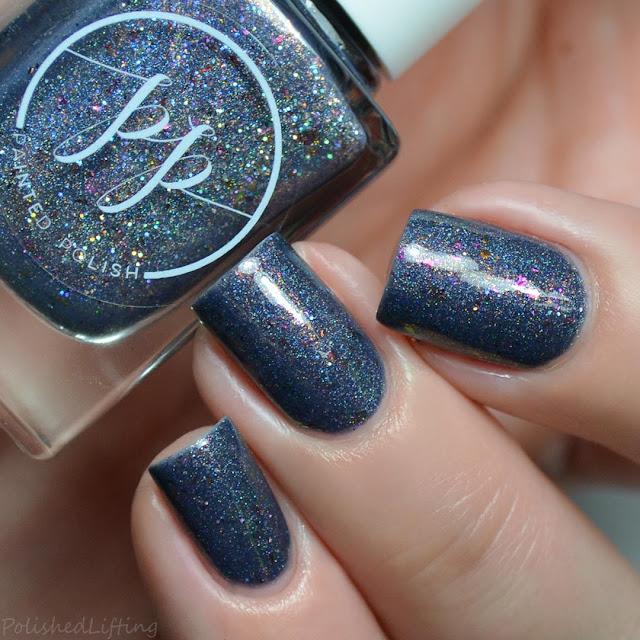 navy holo nail polish