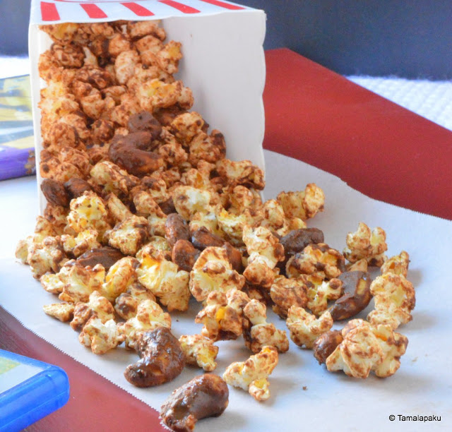 Chocolate Popcorn And Nuts