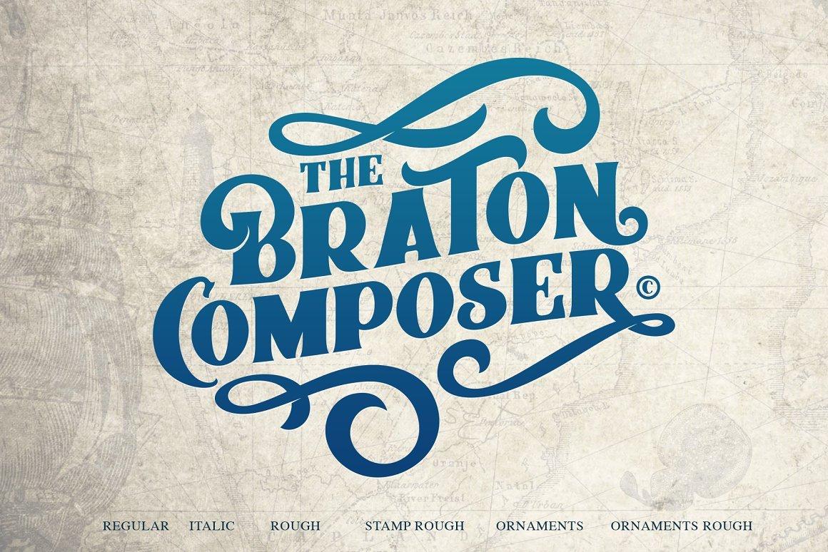 Braton Composer Font - Free Vintage Display Font