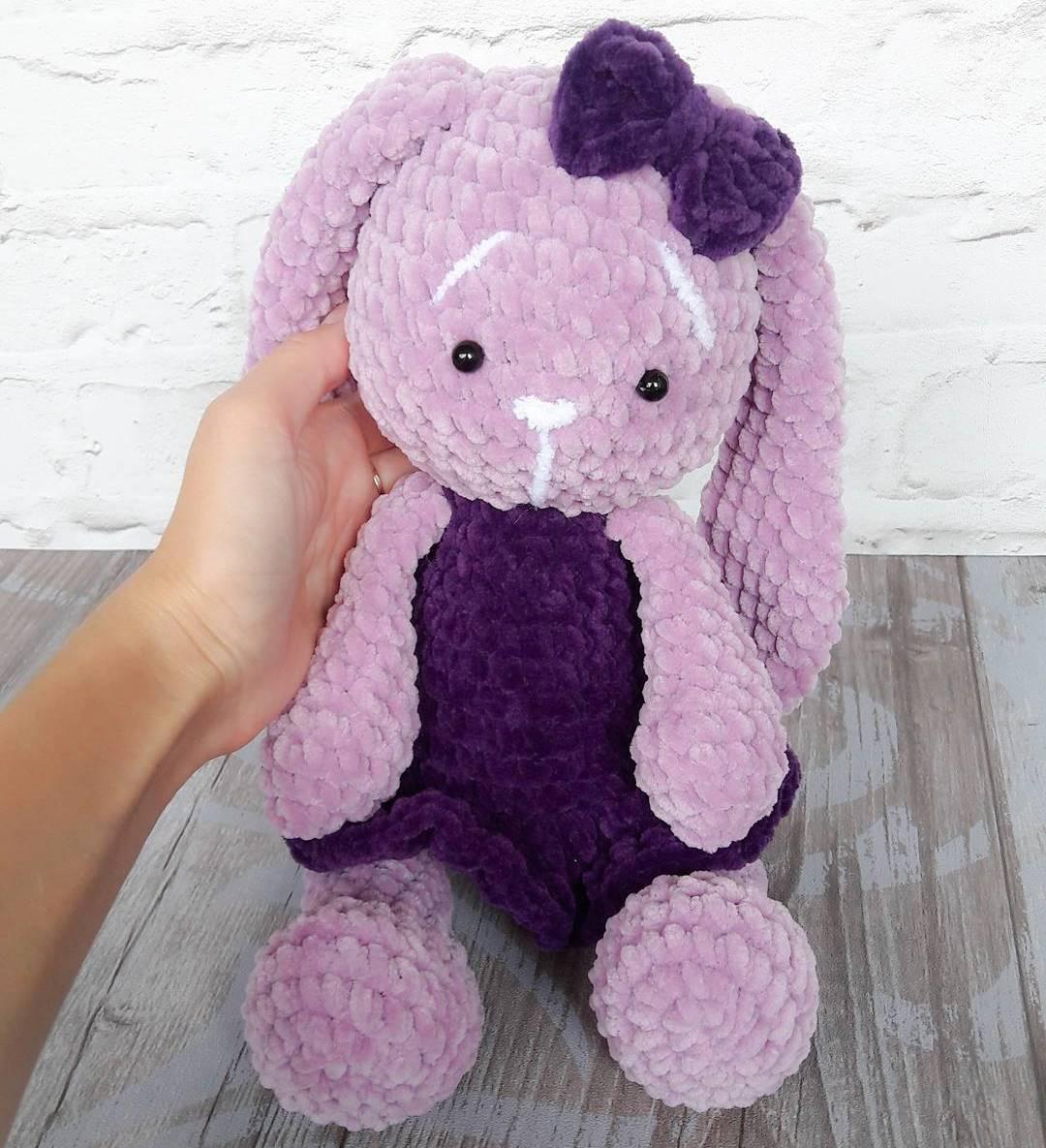 Sweet bunny amigurumi in dress pattern   Amiguroom Toys   1185x1080