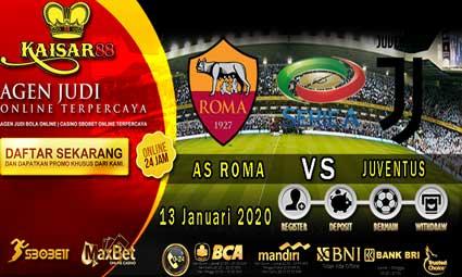 PREDIKSI BOLA TERPERCAYA AS ROMA VS JUVENTUS 13 JANUARI 2020
