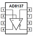 AD8137 Analog-Digital Converter Driver Pin Configuration