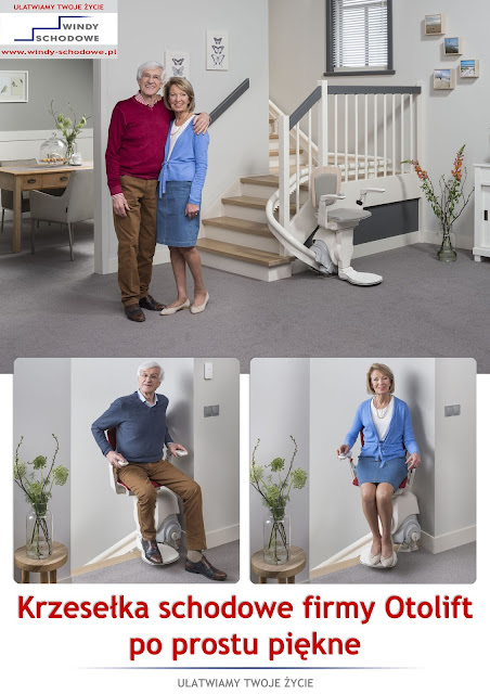 Krzesełka schodowe oferowane przez firmę Windy Schodowe