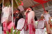 Kapolres Minahasa da hadir di Hari Jadi RI Ke-76.