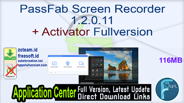 PassFab Screen Recorder 1.2.0.11 + Activator Fullversion