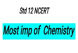 STD 12 SCIENCE GSEB CHEMISTRY IMP FOR BOARD EXAM MARCH 2000